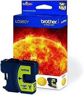 Brother LC-980Y wkład atramentowy, żółty, pojedyncze opakowanie, standardowa wydajność, zawiera 1 x wkład atramentowy, ory...