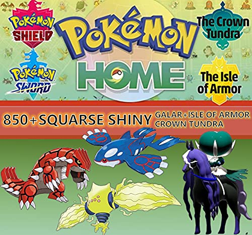 Pokémon Shiny Sword & Shield Pokemon Home GALAR + Crown Tundra + Ilha de Armadura Pokedex