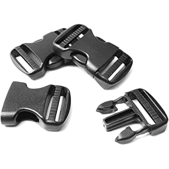 Plastic Black Side Release Buckle For Outdoor Camping Hiking Backpack Strap Part