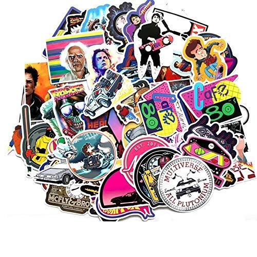 57 stks/pak waterdichte film terug naar de toekomst Graffiti Stickers Skateboard Travel koffer telefoon motorfiets Laptop Stickers speelgoed