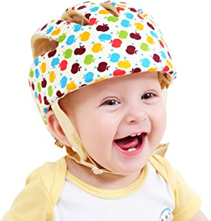 ESUPPORT Baby Adjustable Safety Helmet Headguard Protective Harnesses Hat Providing Safer Environment When Learning to Crawl Walk Play Flower