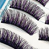 Yibenwanligod 5 pares de pestañas postizas gruesas hechas a mano rizadas naturales de pestañas largas para maquillaje