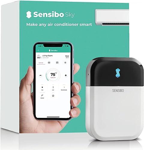 Sensibo Sky, système de climatiseur intelligent. Installé en 1 min. L'appli éco maintient le confort. Auto ON/OFF. Wi...