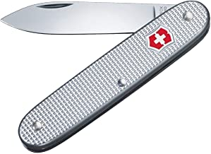 Victorinox schweizisk armé 1 Alox schweizisk arméfickkniv, medium, multiverktyg, 1 funktioner, stort blad, silver