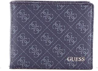 Luxury Fashion | Guess Mens SM2639LEA27NAVY Blue Wallet | Fall Winter 19