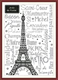 CaptainCrafts New Cross Stitch Kits Patterns Embroidery Kit - Eiffel Tower (White)