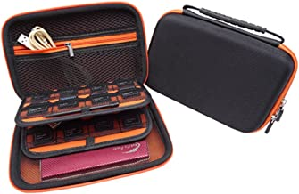 Soyan Carrying Case for Nintendo New 3DS XL and 2DS XL, with 16 SD Card Holders, with Carry Handle (Orange)
