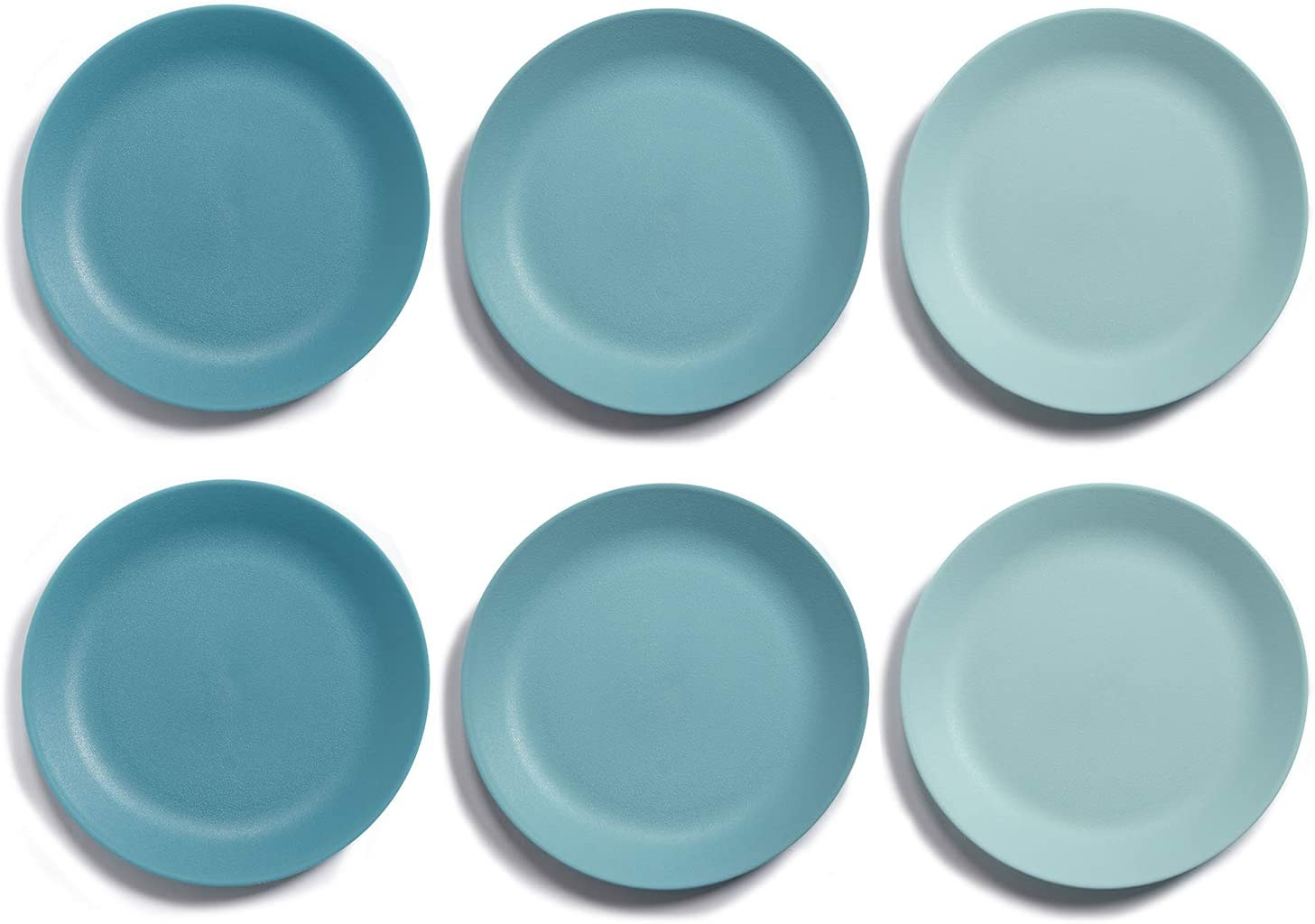 Everest Ultra-Durable Plastic 10-inch Dinner Plate set of 6 Coastal Blue Gradient