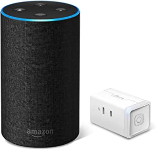 Echo 第2世代 - スマートスピーカー with Alexa、チャコール + TP-Link WiFi スマートプラグ 直差しコンセント 音声コントロール