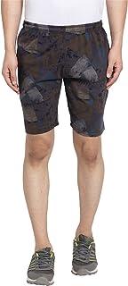 UZARUS Men's Cotton Bermuda Sleep Night Wear Beach Running Sports Gym Shorts with 2 Zipper Pockets