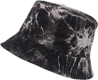 XUYI Chapéu bucket de algodão unissex Tie Dye boné de verão para caminhadas e esportes na praia