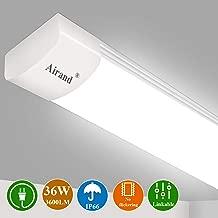 LED Ceiling Light Fixture 4FT, LED Shop Light Fixture 5000K, Airand IP66 Waterproof LED Garage Light Closet Light Under Cabinet Light, 36W 3600 LUX LED Tube Shop Light Work Light for Shop,Hallway