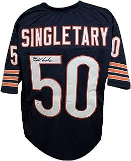 Mike Singletary Autographed Chicago Bears Custom Navy Football Jersey - BAS COA