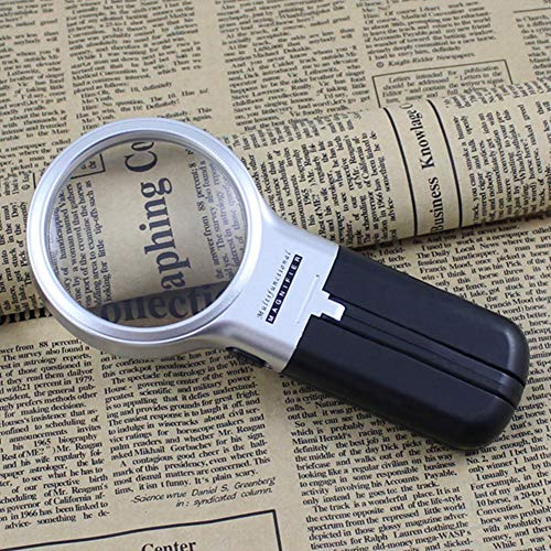 JinanshiCathy Oliver - Lupa de lectura plegable con luz LED (3 aumentos)