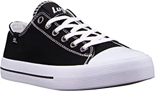Lugz Women's Stagger Lo Fashion Sneaker, Black/White, 6