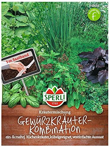 84800 Sperli Premium Kräutersamen Set | 8 Kräuter | Küchenkräuter Set | Samen Kräuter | Kräuter Set | Samen Set | Küchenkräuter Samen