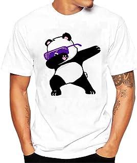 Zulmaliu Men Tee Shirt, Cute Panda Print T-Shirt Polo Shirts Sportwear Outfit Cool Tank Tops
