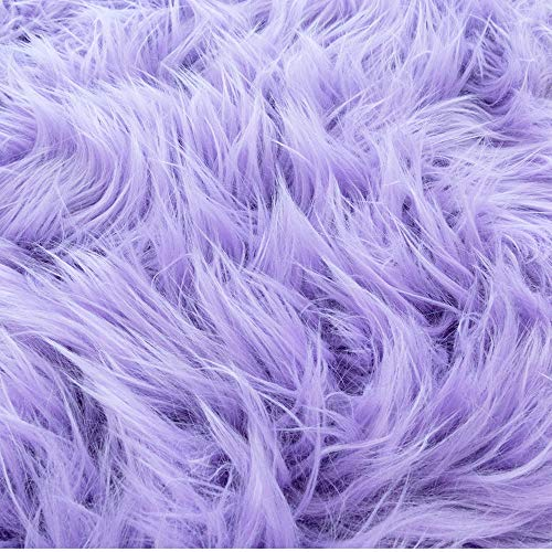 Barcelonetta | Half Yard Faux Fur | 18' X 60' Inch | Craft Supply, Costume, Decoration (Lavender)