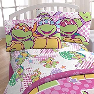 4pc Teenage Mutant Ninja Turtles Full Bed Sheet Set I Love TMNT Shelltastic Bedding Accessories