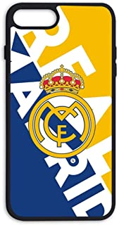 LUU&KAA Real Madrid Club de Futbol iphone7 / iphone8 Plus Phone case, Ultra-Thin Soft TPU Bumper Silicone Anti-Drop Durable Graphic Protective case for iPhone 8 Plus / 7 Plus Black
