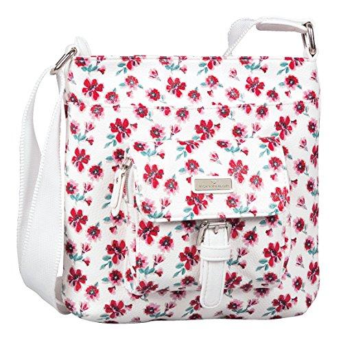 TOM TAILOR Rinapu Flower Cross Bag White