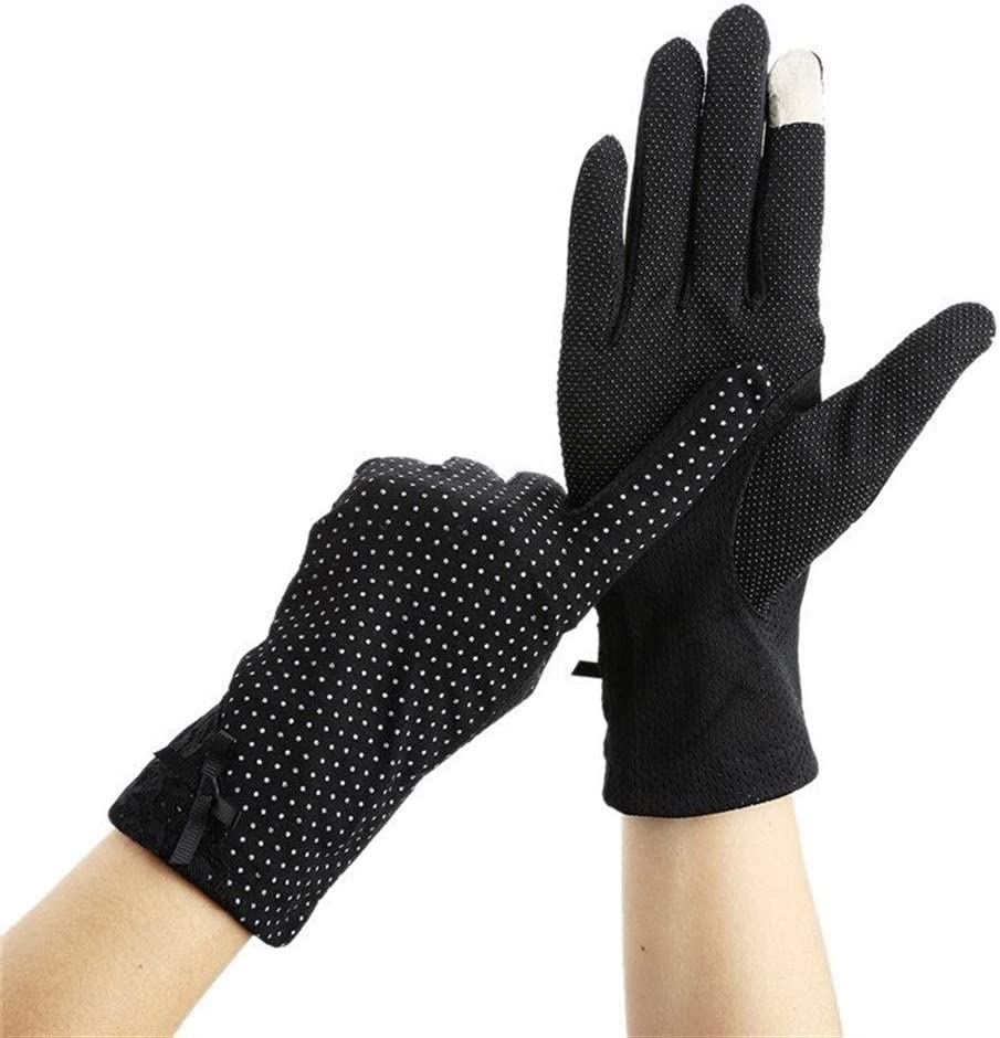 FASGION Women Lace Sunscreen Gloves Summer Spring Lady Stretch Touch Screen Anti Uv Slip Resistant Driving Glove Breathable Guantes (Color : 6)