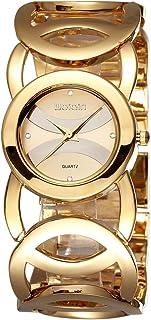 Bracelet Watches for Women Gold Tone Rhinestone Bangle Watch Ladies Wristwatches