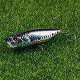 FJJ-DIAOYU, 1pc 8 cm 15,5 g Popper señuelos de Pesca 3D Ojos Cebo de Crankbait...