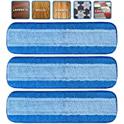 VanDuck Microfiber Cleaning Pads Compatible with Bona Mop (12-Pack). Hardwood Floor Replacement Cleaning Head