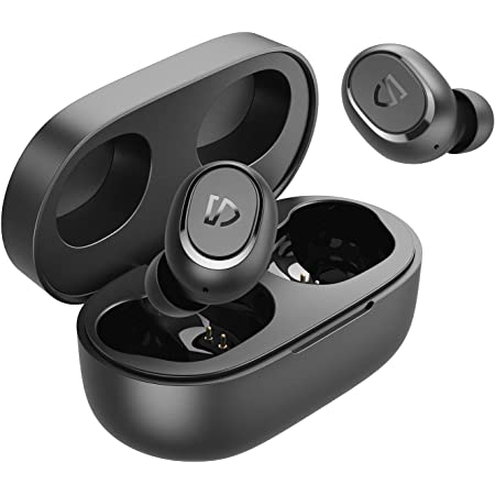 SoundPEATS Wireless Earbuds TrueFree2 Bluetooth 5.0 Headphones in-Ear Stereo Sports Earbuds, IPX7 Waterproof, Customized Ear Fins, USB-C Charge, Monaural/Binaural Calls, 20 Hours Playtime
