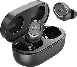 SoundPEATS Audifonos Inalámbricos, Auriculares Bluetooth 5.0 Auriculares Deportivos Estéreo, IPX7, Aletas de oído personalizadas, Carga USB-C, Llamadas monoaurales / binaurales, 20 horas de reproducción
