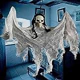 DecoracióN De Halloween Accesorios De Terror Esqueleto Espeluznante Colgando Adornos De Horror De Muerte