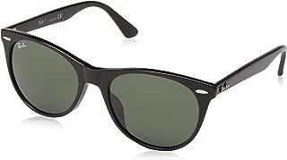 RAY-BAN RB2185F Wayfarer II Asian Fit Sunglasses, Black/Green, 55 mm