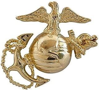 US Marine Corps Emblem, E1, Left Cap Gold USMC Lapel Hat Pin 1-3/4