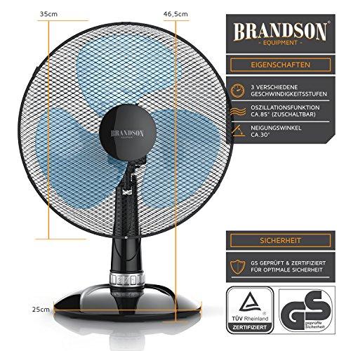 Brandson – Tischventilator 35cm   Tisch Bild 2*