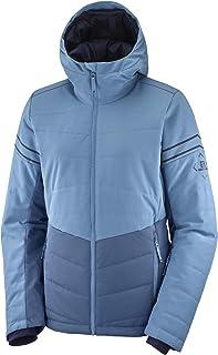 Salomon Women's Standard Jacket, Dark Denim/Copen Blue/Night Sky, Large