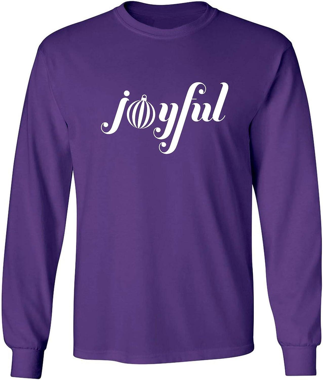 Joyful Adult Long Sleeve T-Shirt in Purple - XXX-Large