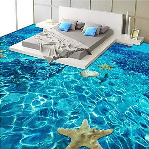 3D Stereo Sea Starfish vloerbedekking slaapkamer badkamer PVC zelfklevend waterdicht dragen 3D vloertegels muurschildering papel De Parede-140cmx100cm