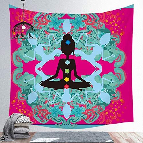 KHKJ Galaxy Decor Psyc Tapiz hedelic Colgante de Pared Tapiz de Mandala Indio Hippie Chakra tapices Boho paño de Pared A1 150x130cm