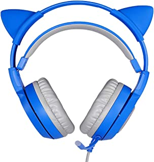 TISHITA Universal Kids Wired Over Ear hörlurar axelrem med basmikrofon