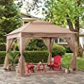 Sunjoy Nathan 11x11 ft. Pop Up Portable Steel Gazebo, Khaki