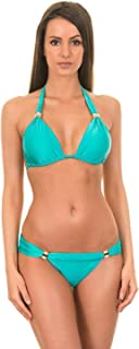 ViX Bia Tube Turquoise Sliding Triangle Bikini Top (S)
