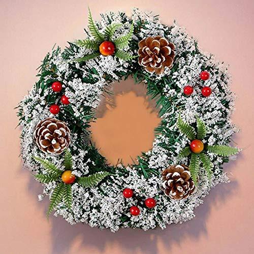 Kerstkrans, warm met lampjes, slinger, deurhangen, ornamnets, etalages, decoratie, bruiloft, feest, festivalslinger WSJKHY Without Lights 9