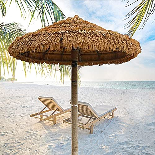 Sombrilla de jardín Sombrilla de Playa de Estilo Hawaiano Sombrilla de Paja al Aire Libre con inclinación Sombrilla de Patio Transpirable para sombrilla de jardín