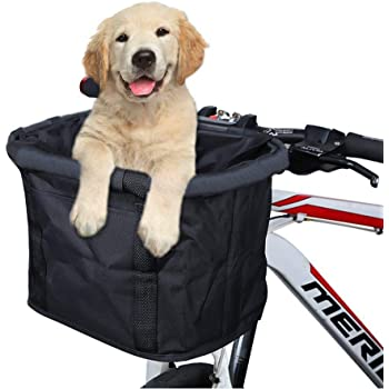 Optional Lixada Bicycle Front Basket Folding Removable Bike Handlebar Basket Pet Cat Dog Carrier Frame Bag XVK9141448839220CR