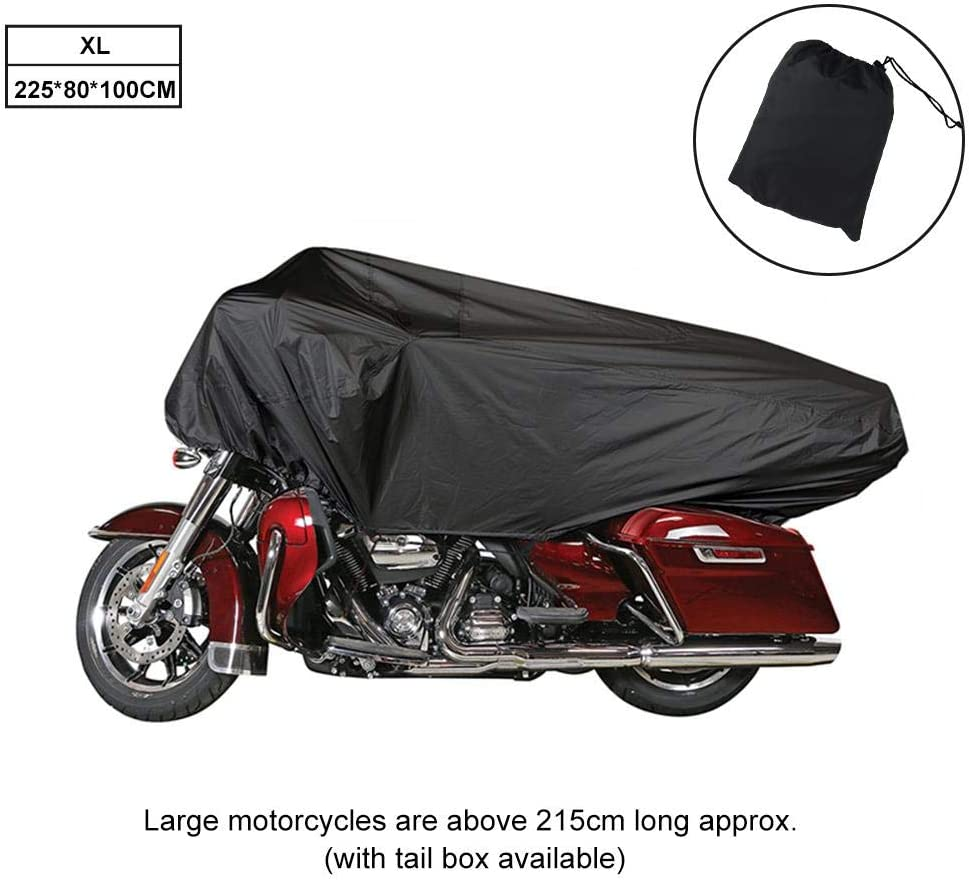 aheadad Housse Moto Moto Demi-Housse Housse de Protection 210T Universel l/éger Demi Anti Vent Poussi/ère UV Pluie