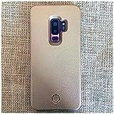 IFMGJK Funda de teléfono con luz Brillante for Galaxy S9 Plus S10 Plus, Carcasa con luz de Relleno for Foto, artefacto for Samsung S10 S9 S8 Plus, Carcasa móvil for Selfie