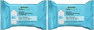 Makeup Remover Micellar Gentle Cleansing Wipes for Waterproof Makeup By Garnier Skinactive, 25Count, 2 Pack