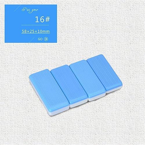 el estilo clásico NuoEn NuoEn NuoEn PAI Gow Tiles Cards Juego de Juego Tradicional Juegos de Ocio para la Familia 32 Tiles ( Color   azul16  )  Mercancía de alta calidad y servicio conveniente y honesto.