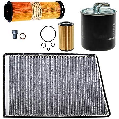 Filter Set Ölfilter Luftfilter Aktivkohlefilter W203 180 200 230 Kompressor Auto